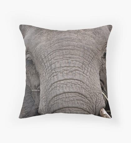 Elephant Fine Dining Throw Pillow