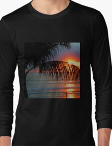 Bali Summer Sunset & Surf Long Sleeve T-Shirt