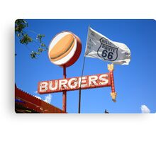 Route 66 - Snow Cap Drive-In Canvas Print