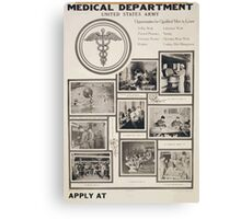 Medical Department United States Army Canvas Print