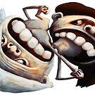Battle of the Sexes or Yin Yang (horizontal version) by konokopia