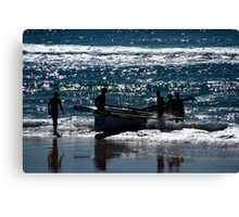 Surf Boat And Crew #2 Canvas Print