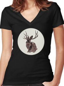 MIIKE SNOW - HAPPY TO YOU Women's Fitted V-Neck T-Shirt