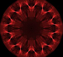 Red Fibre Kaleidoscope 02 by fantasytripp