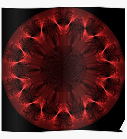 Red Fibre Kaleidoscope 02 Poster