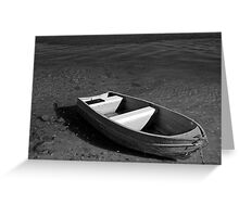 lonely litte boat Greeting Card