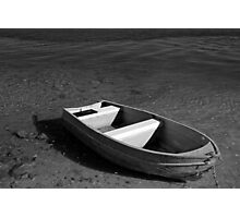 lonely litte boat Photographic Print