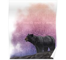 Ethnic Native American Black Bear Poster