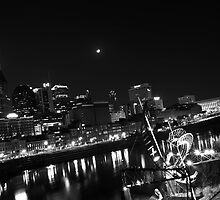 Nashville's Crescent Moon  by Chad Eastman