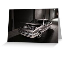 Silver Holden VL Commodore Turbo Greeting Card