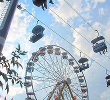 Calgary Stampede Ferris Wheel by Julia Milner