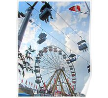 Calgary Stampede Ferris Wheel Poster