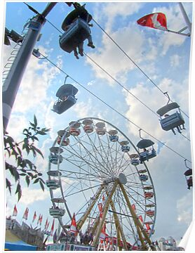 Calgary Stampede Ferris Wheel by Julia Milner
