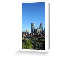 Calgary Skyscrapers Greeting Card