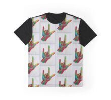 """American Sign Language """"I LOVE YOU"""" with a Border Graphic T-Shirt"""