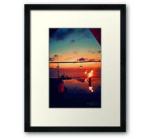 Bali Sunset Flame Framed Print