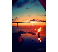 Bali Sunset Flame Photographic Print