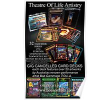 GIG CANCELLED - card deck art Poster