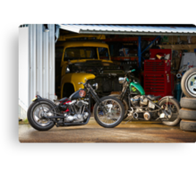 Tim and Neil's Custom Harley Bobbers Canvas Print