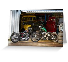 Tim and Neil's Custom Harley Bobbers Greeting Card