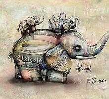 Upside Down Elephants by © Karin Taylor