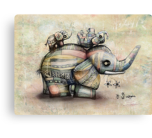Upside Down Elephants Canvas Print