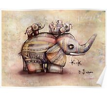 upside down elephants Poster