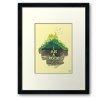 I am a rock Framed Print