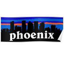 Awesome Phoenix Arizona. US Sunset skyline Collection Poster