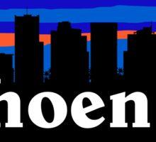 Awesome Phoenix Arizona. US Sunset skyline Collection Sticker