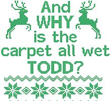 And WHY is the carpet all wet TODD? by tshiart