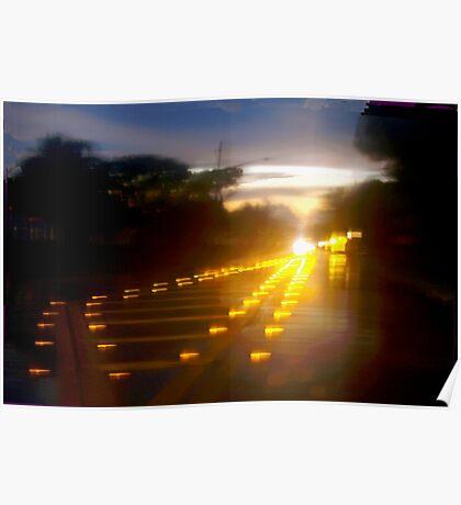 Blazing reflectors Poster