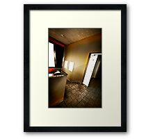 Leave it behind and run Framed Print