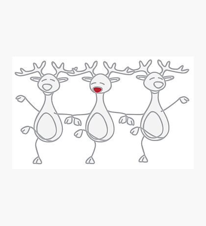 Dancing Reindeer - 1 Photographic Print