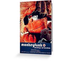 Monkeyfunk - Movie Poster Greeting Card