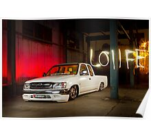 Nathan's Toyota HiLux Minitruck LO11FE Poster