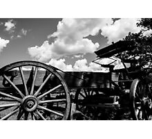 Old Wagon at Ghost Ranch Photographic Print