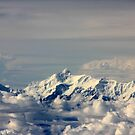 Everest from above.. by PerkyBeans