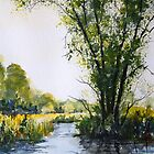 The River Avon Near Pewsey by Martin McKiernan