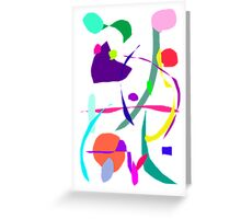 Flowing from North to South with Other Species Greeting Card