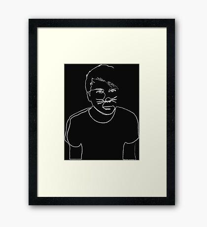 Dan Howell(White) Framed Print
