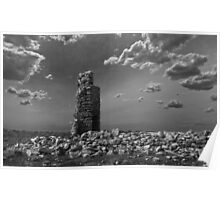 Fireplace, Chimney and Rubble Poster