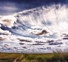 Sweeping clouds by Vicki Field