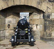 Cannon on display at Edinburgh Castle by ashishagarwal74