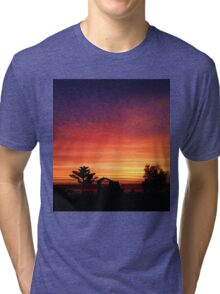 Camp Site Sunset  Tri-blend T-Shirt