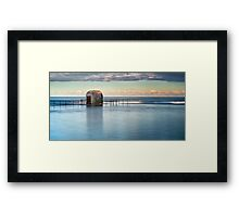 Merewether Ocean Baths - Pump house Framed Print