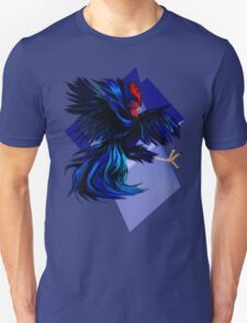 Black Fighting Rooster Unisex T-Shirt