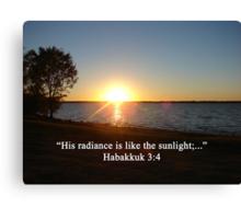 """Habakkuk 3:4""  by Carter L. Shepard Canvas Print"