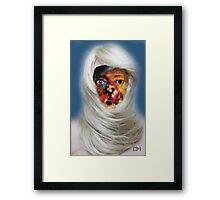 mask fantasy in blonde Framed Print
