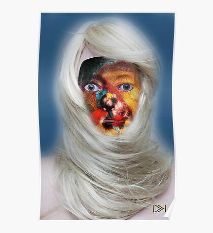 mask fantasy in blonde Poster